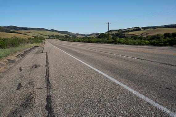 Driving along California Highway 1