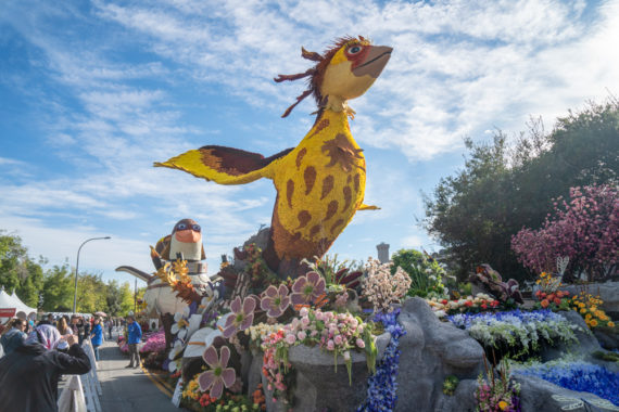 Viewing the 2020 Rose Parade Floats
